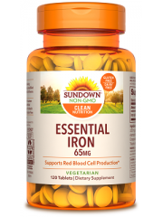Sundown Naturals Essential Iron 65mg 120 tabs